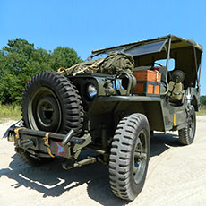 Military Jeep - theatrical props hire